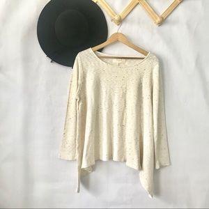Puella   Cream Pointed Hem Sweater Size M